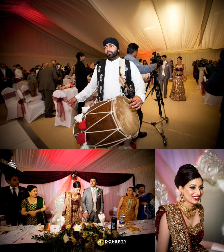 Asian Wedding Photography - Sports Connexion bride and groom entrance