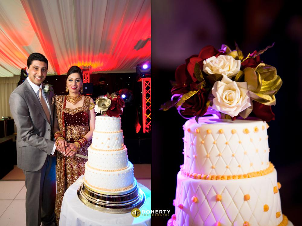 Asian Wedding Photography - Sports Connexion - cake cutting
