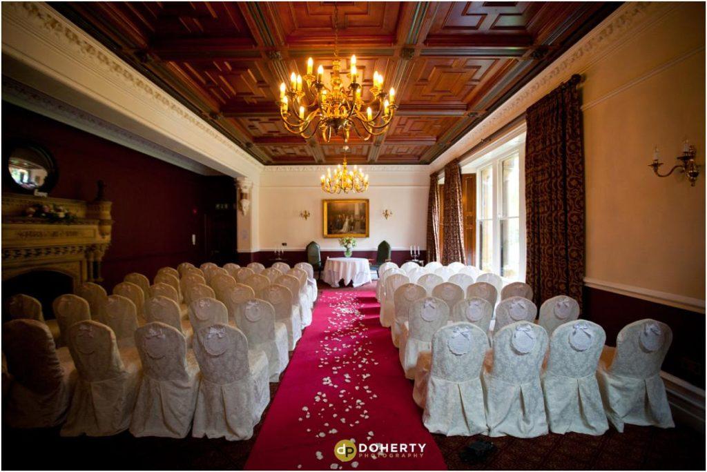 Ettington Park Wedding Ceremony Room Setup