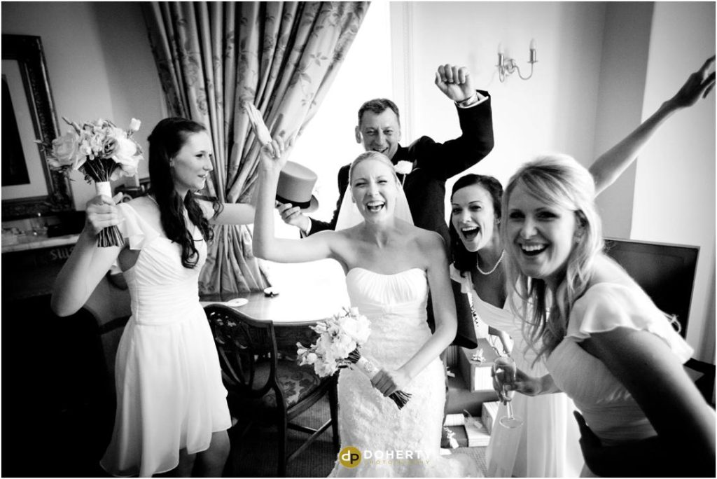 Ettington Park Wedding Bridesmaids Fun
