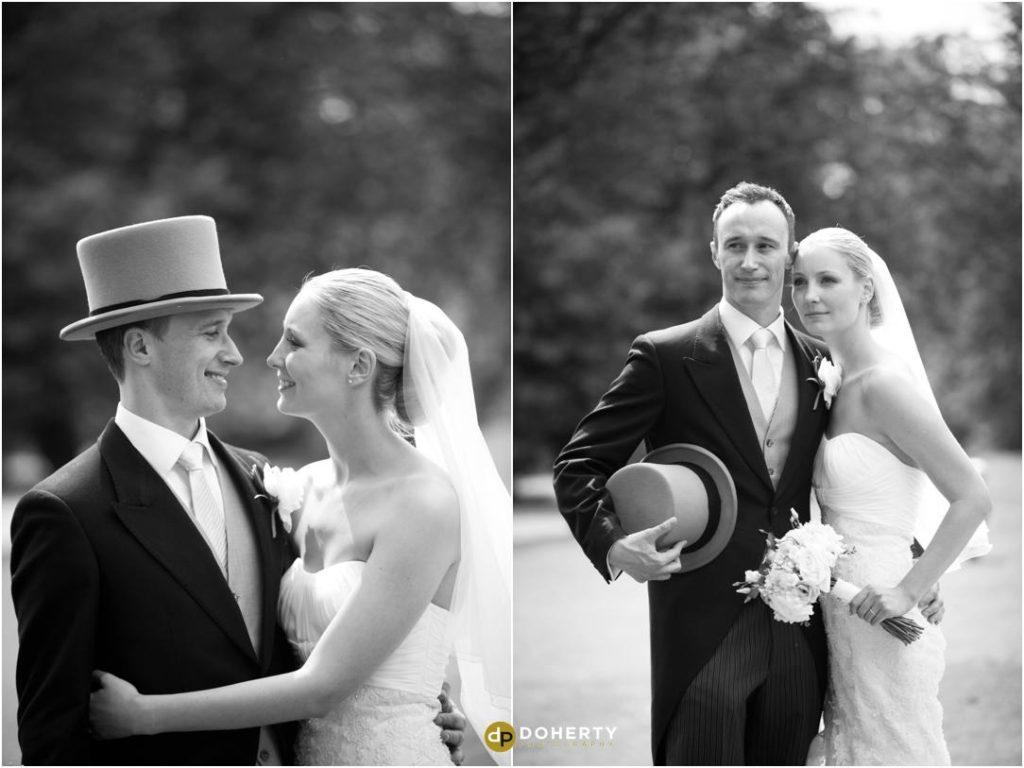 Ettington Park Wedding Bride and Groom holding each other
