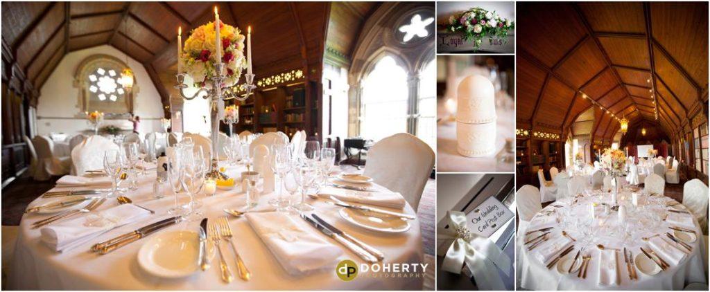 Ettington Park Wedding Room Set-up