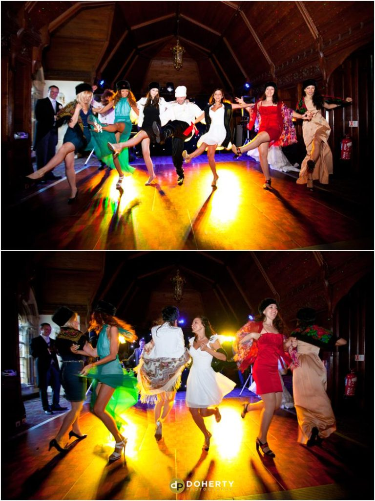 Ettington Park Wedding Partying and dancing