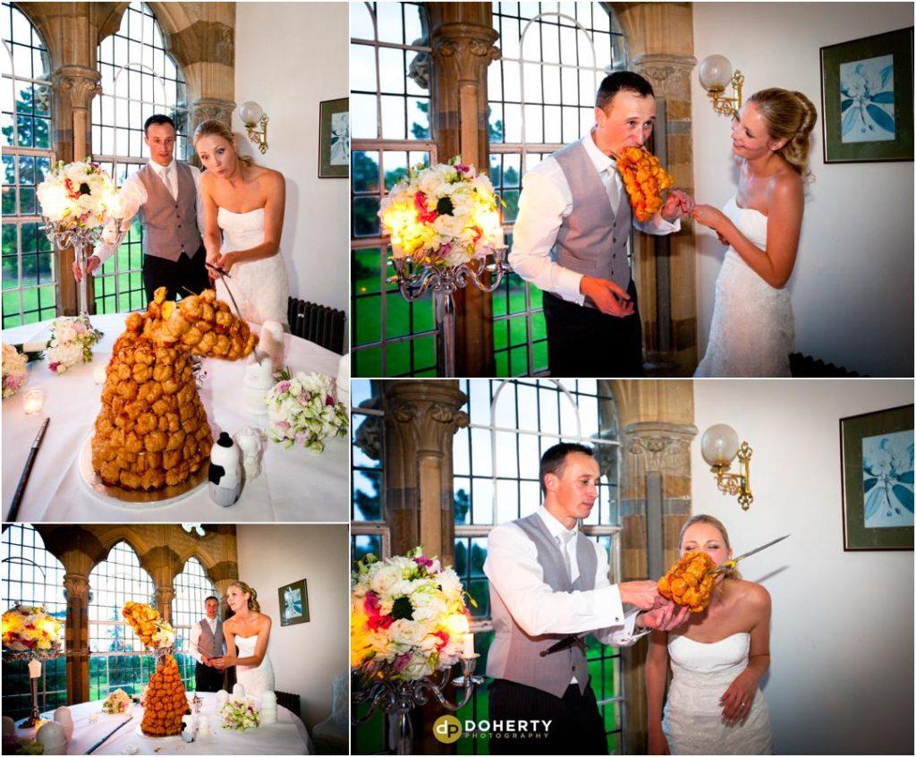 Ettington Park Wedding Cake cutting