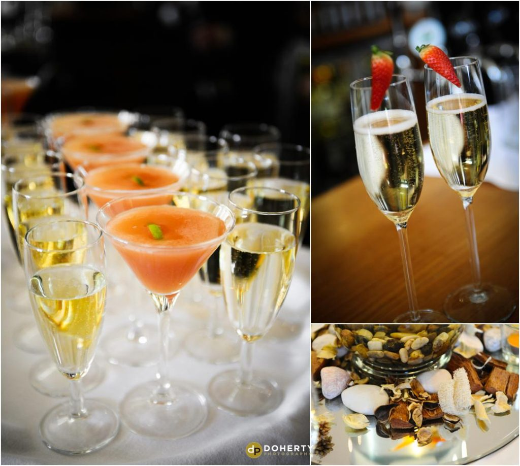Wedding drinks at the Welcombe Hotel