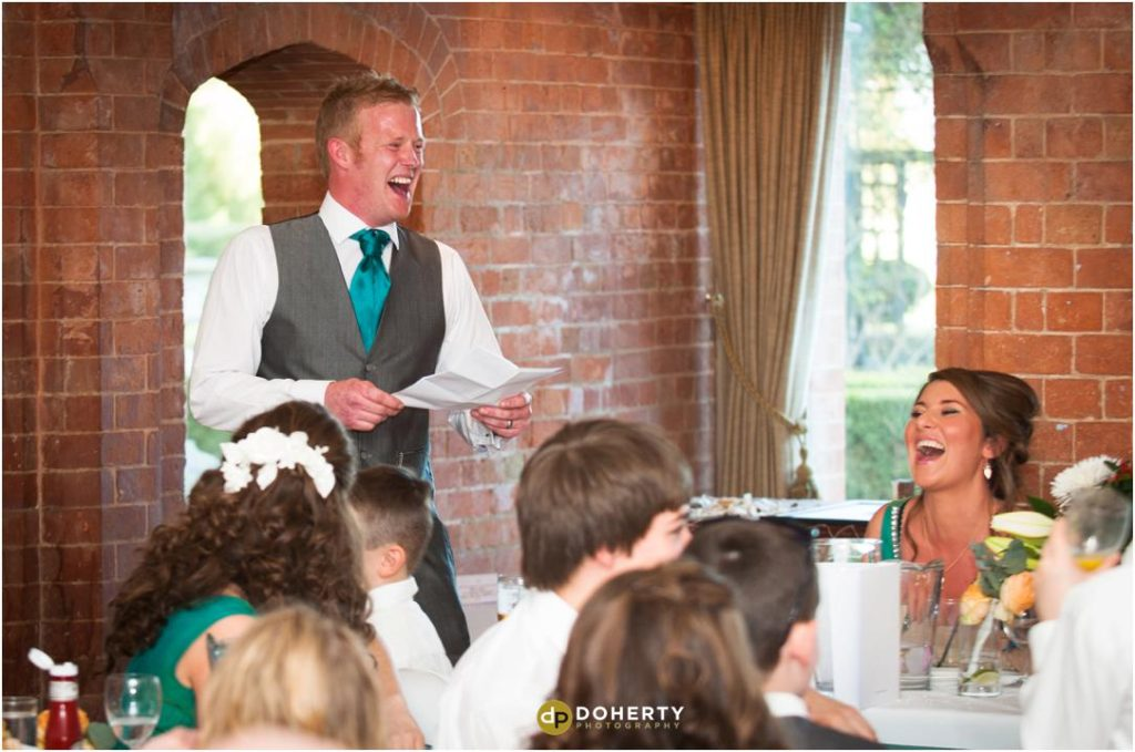 Wedding speeches at the Welcombe Hotel
