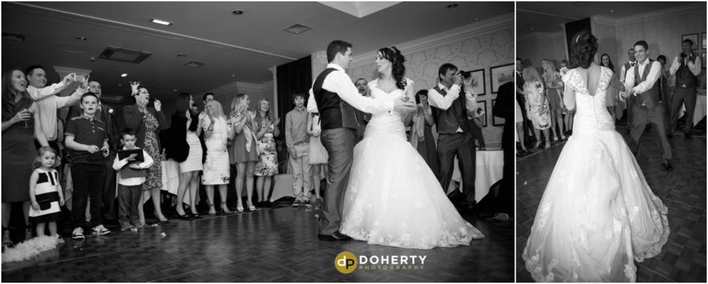Wedding first dance at Welcombe Hotel