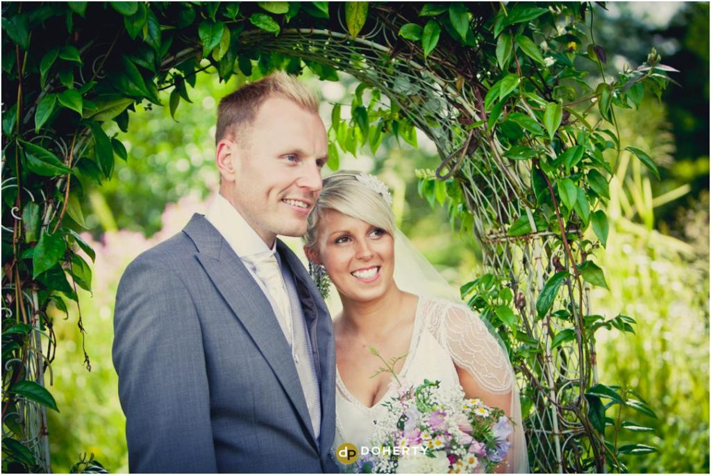 Ashes Barns Wedding Couple