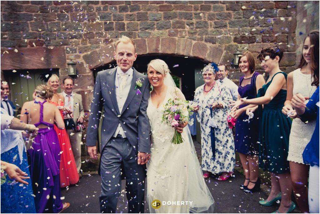 The Ashes Barns Wedding Confetti