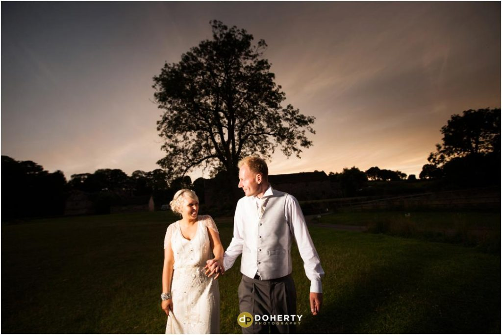 Ashes Barns Wedding Twilight Shot