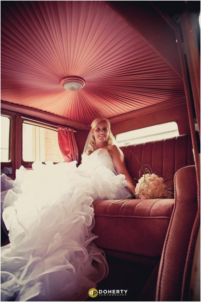 Wedding Bride in Car - Marriott Forest of Arden
