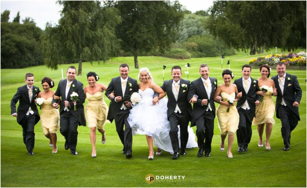 Wedding Bridal Party Photography - Marriott Forest of Arden