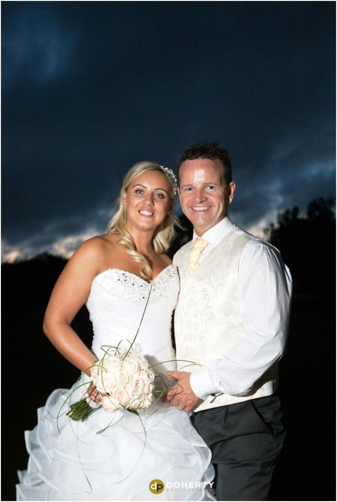 Wedding Photography of bride and groom at night - Marriott Forest of Arden