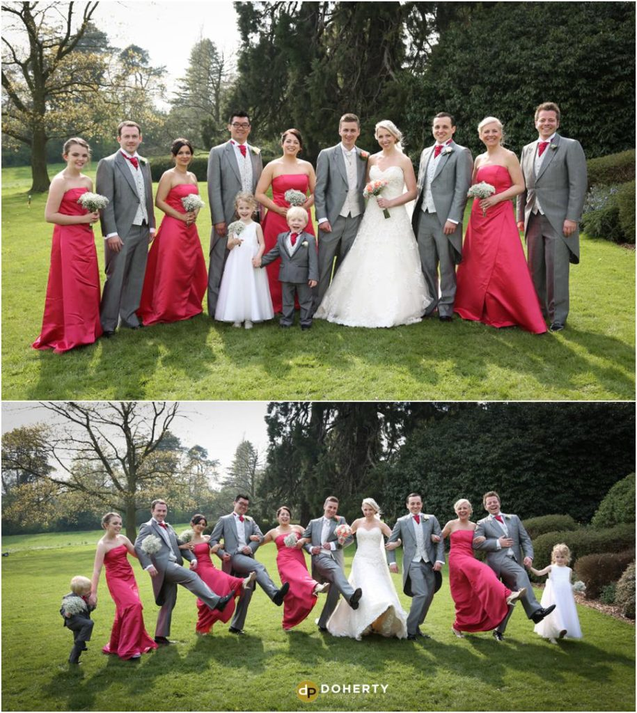 Wedding Bridal Party Photography - Kilworth House