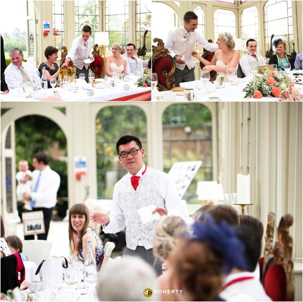Wedding Speech Photography - Kilworth House