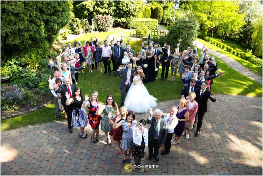 Nuthurst Grange Wedding Group Photo