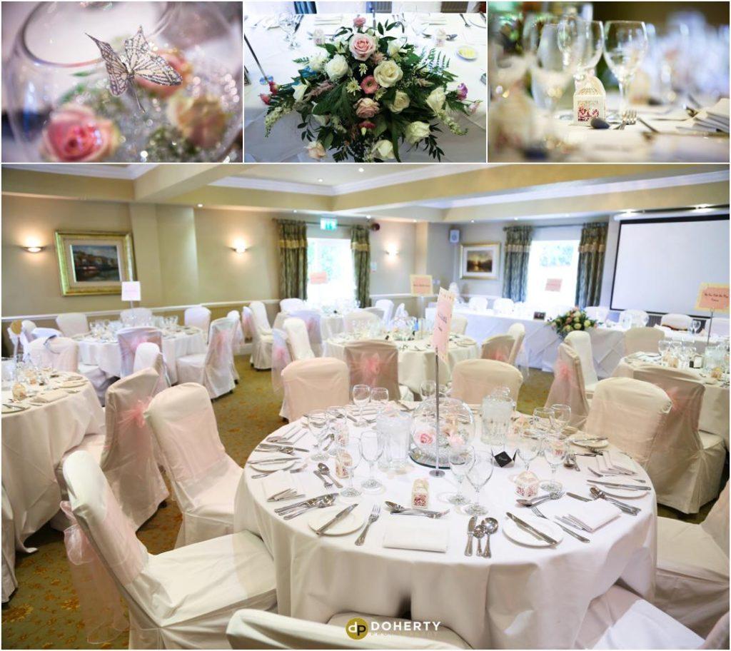 Nuthurst Grange Wedding Room set-up