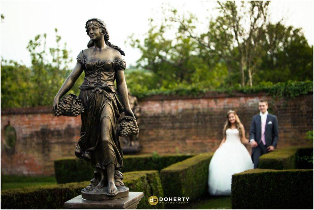 Nuthurst Grange Wedding Photography in gardens