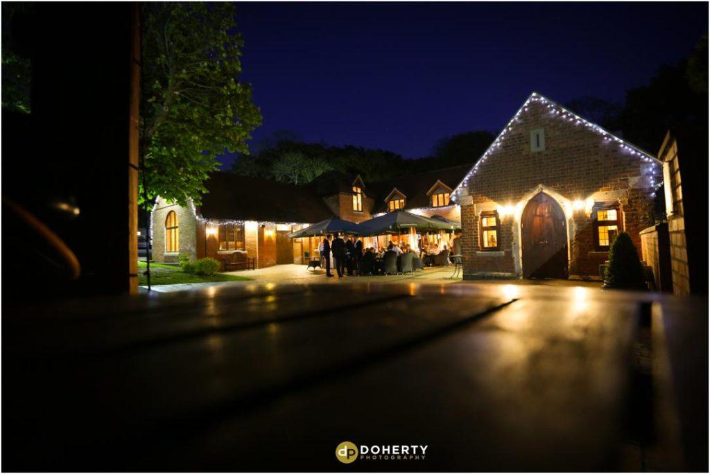 Nuthurst Grange Wedding at night