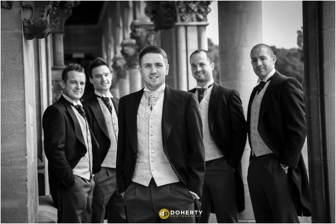 Walton Hall wedding groomsmen photography