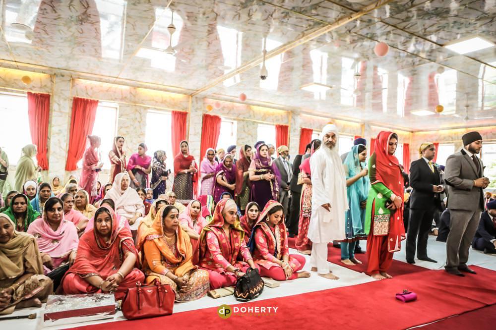 Sikh Wedding gathering Photography - Warwickshire