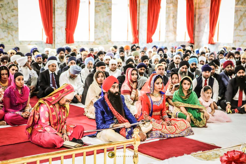 Sikh Wedding Photography in temple – Coventry