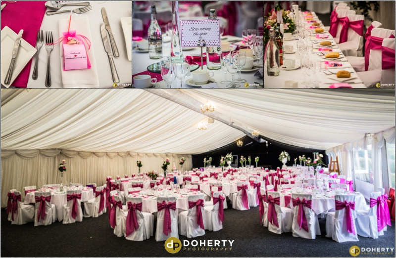 Wedding Marquee Set-up - Dunchurch Park