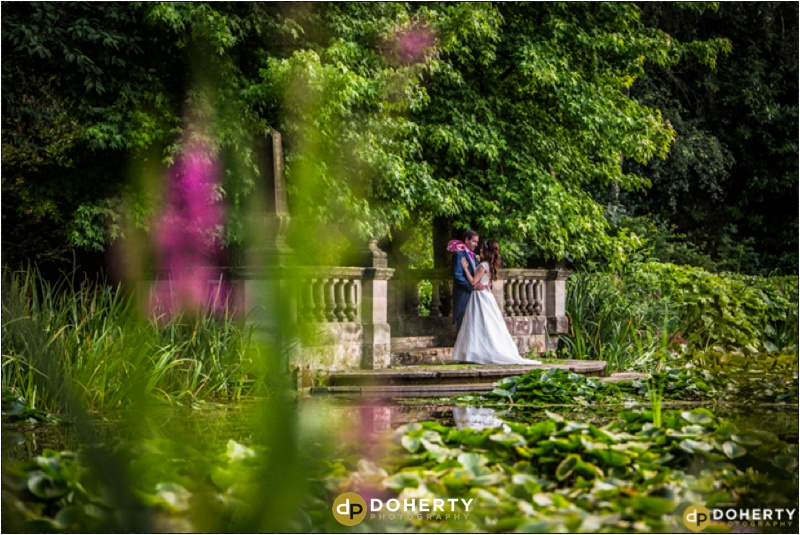 Dunchurch Park Bride and Groom by Lake