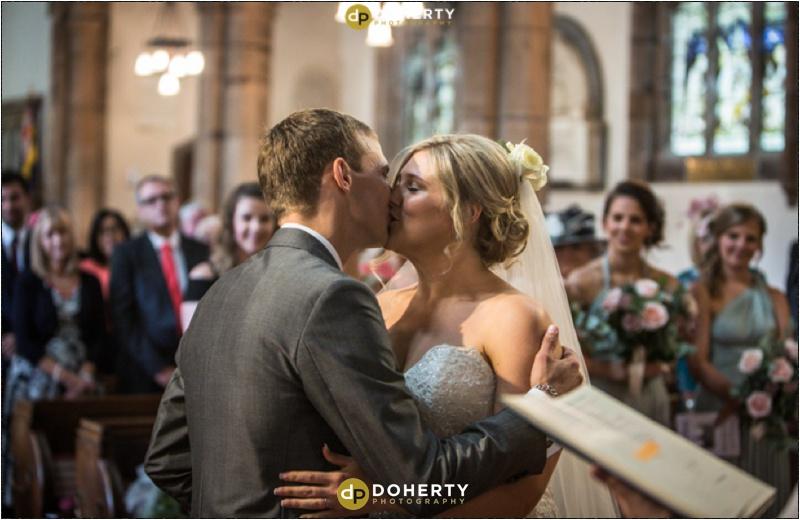 Church kiss photo