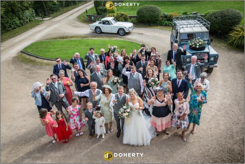 Wethele Manor wedding group photo