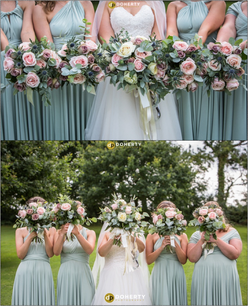 Wethele Manor - Bridesmaids with flowers