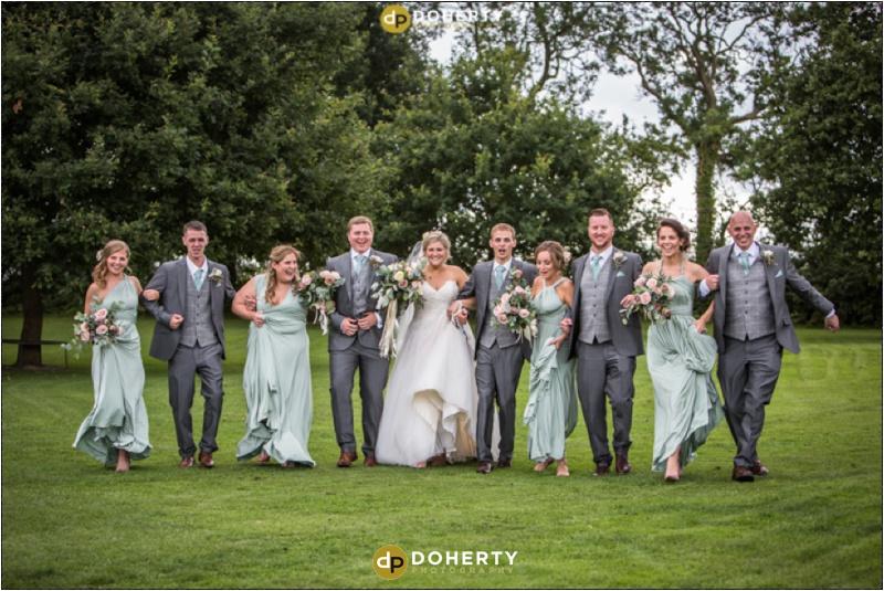 Bridal Party at Wethele Manor wedding