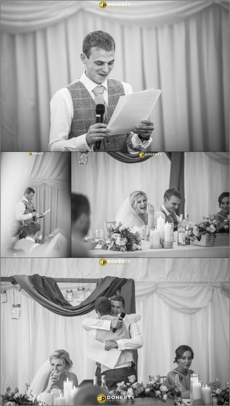 Wethele Manor wedding speeches