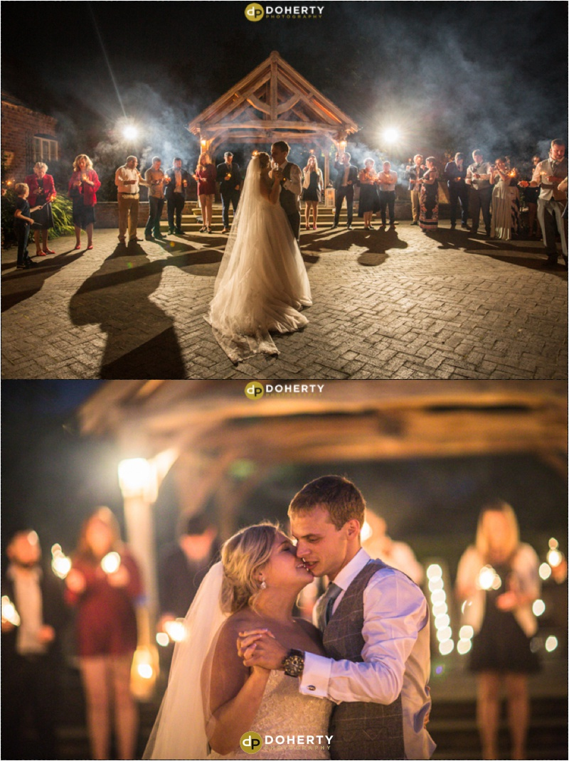 Wethele Manor wedding sparklers photo