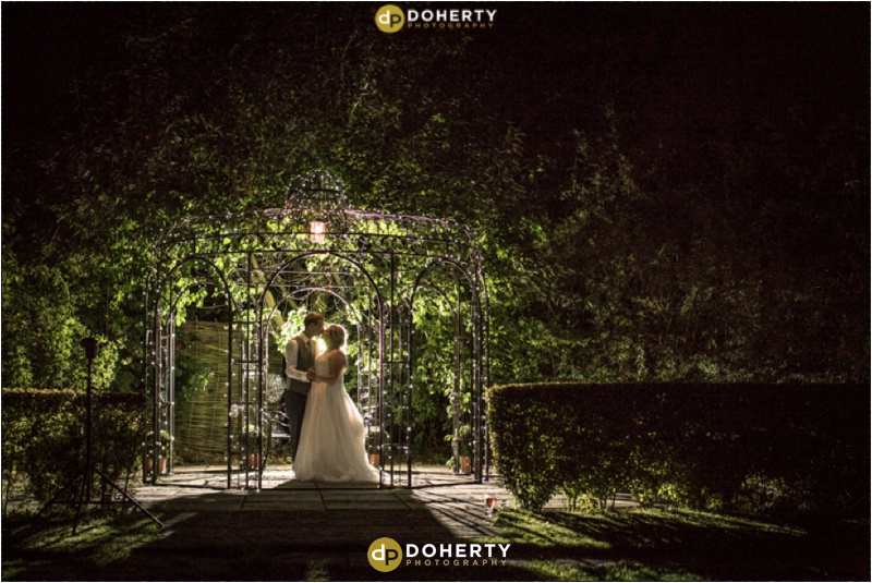 Wethele Manor wedding photography at nigh time