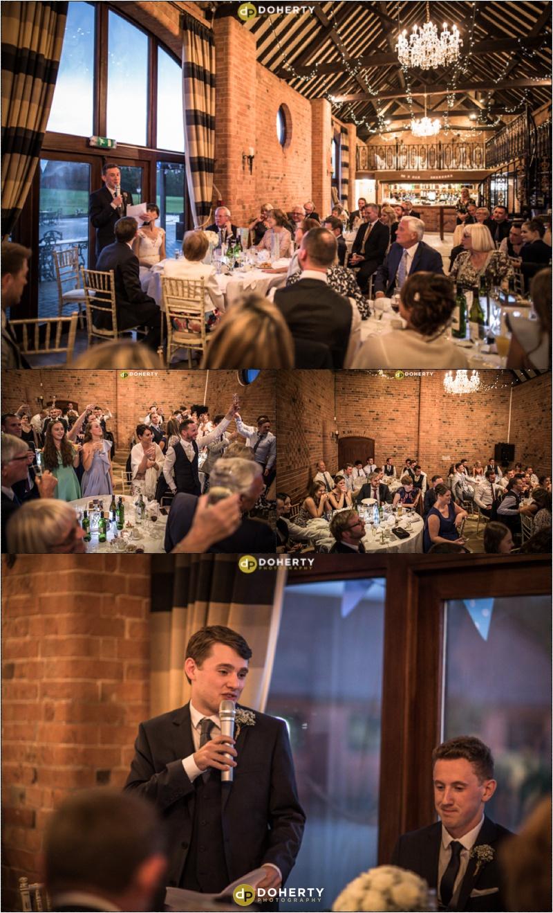 Wedding Speeches - Stratford Park Hotel