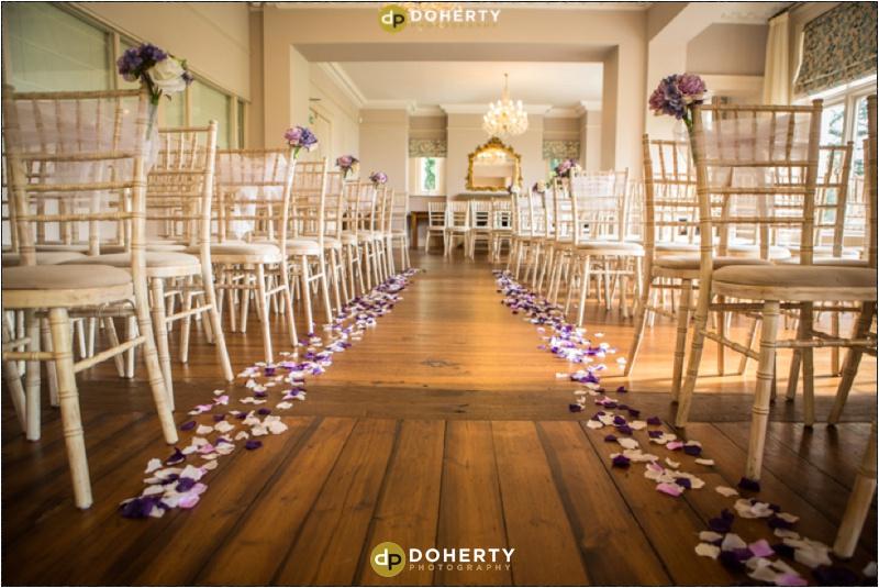 Ashton Lodge Wedding Venue - ceremony room layout