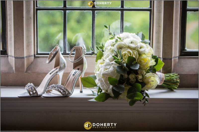 Moxhull Hall Wedding Shoes and Flowers