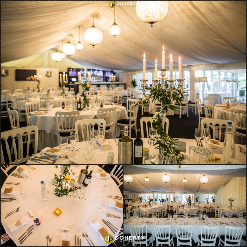 Moxhull Hall Wedding Marquee Dressed