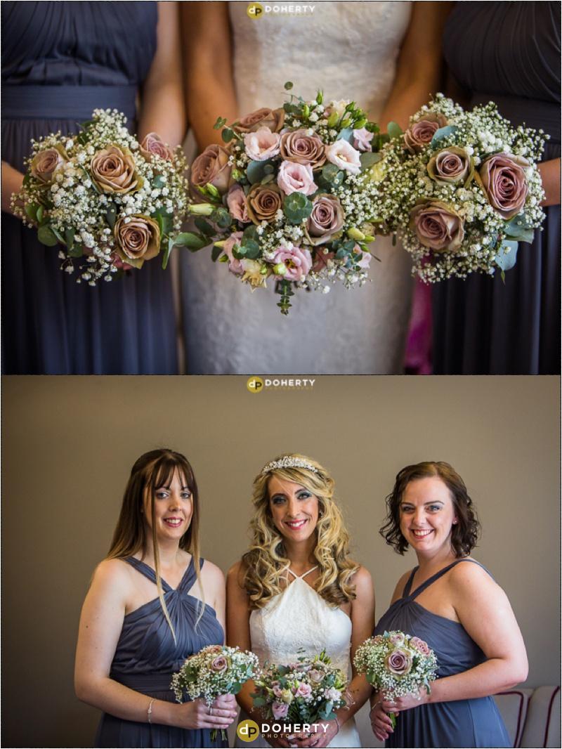 Wedding Bridesmaids and flowers