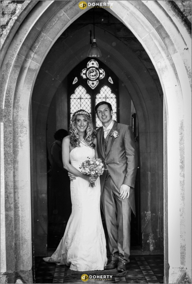 Bride and Groom married at Church near Sutton Coldfield