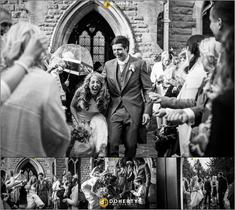 Wishaw Country Sports Wedding Couple leaving Church