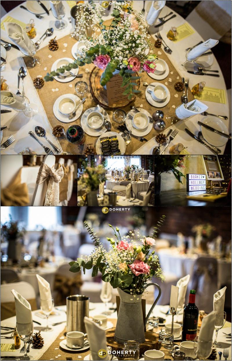 Wishaw Country Sports Wedding venue set-up
