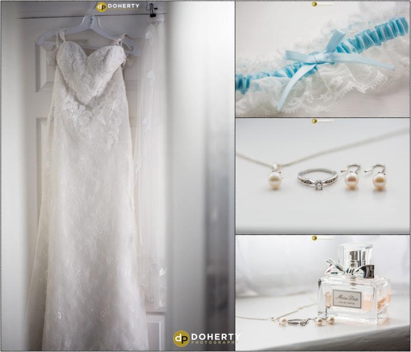 Something blue and wedding dress