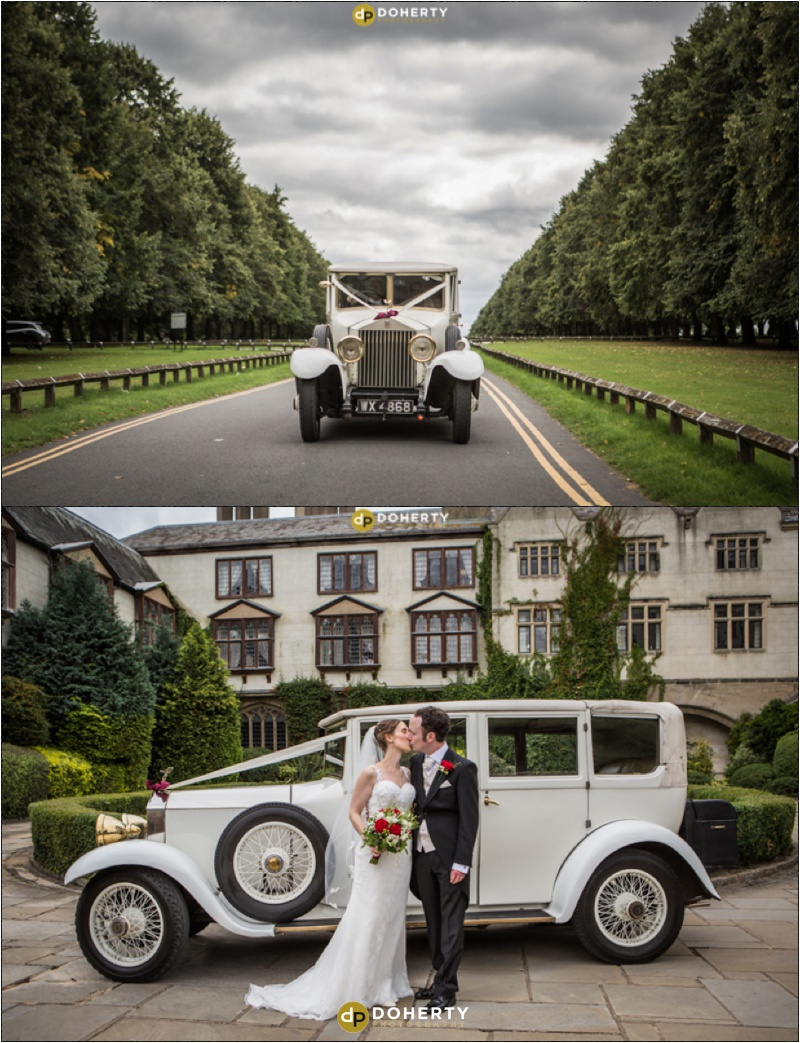 Coombe Abbey Wedding Car on arrival