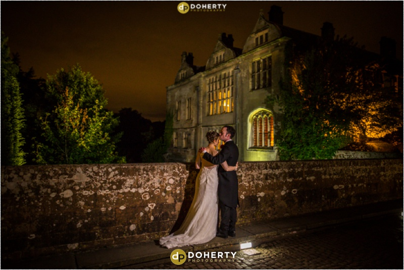 Coombe Abbey Wedding at night