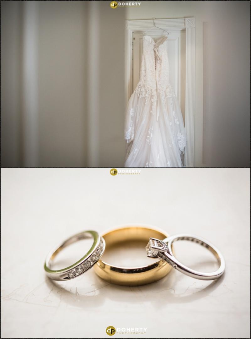 Warwickshire Wedding - Rings and dress