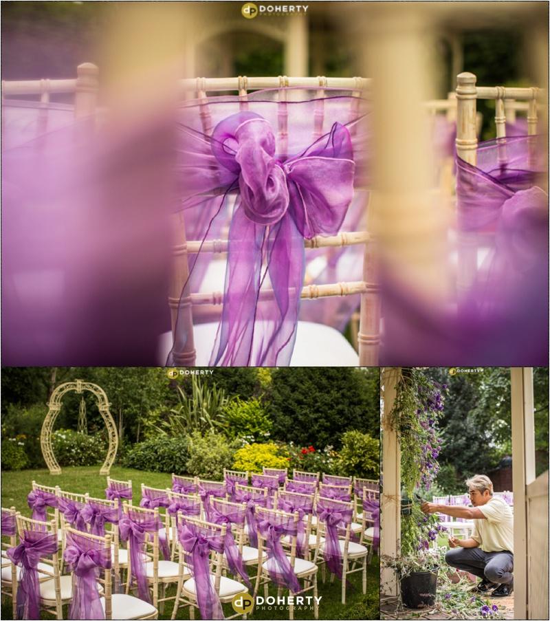 Warwickshire Wedding - Warwick House Outdoor Ceremony