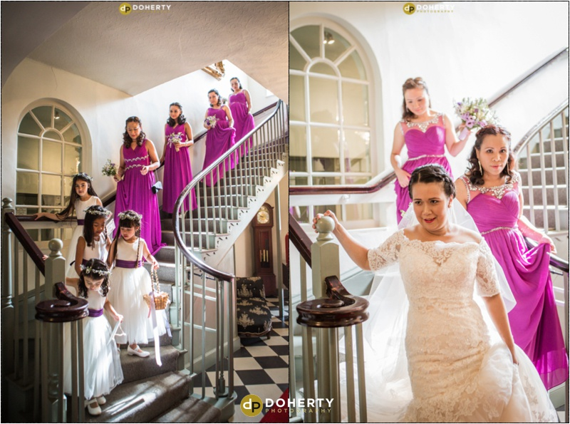 Warwickshire Wedding - Warwick House Staircase