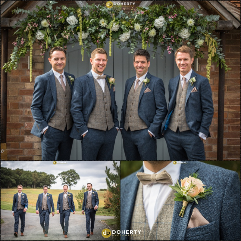Swallows Nest Barn Wedding Groomsmen